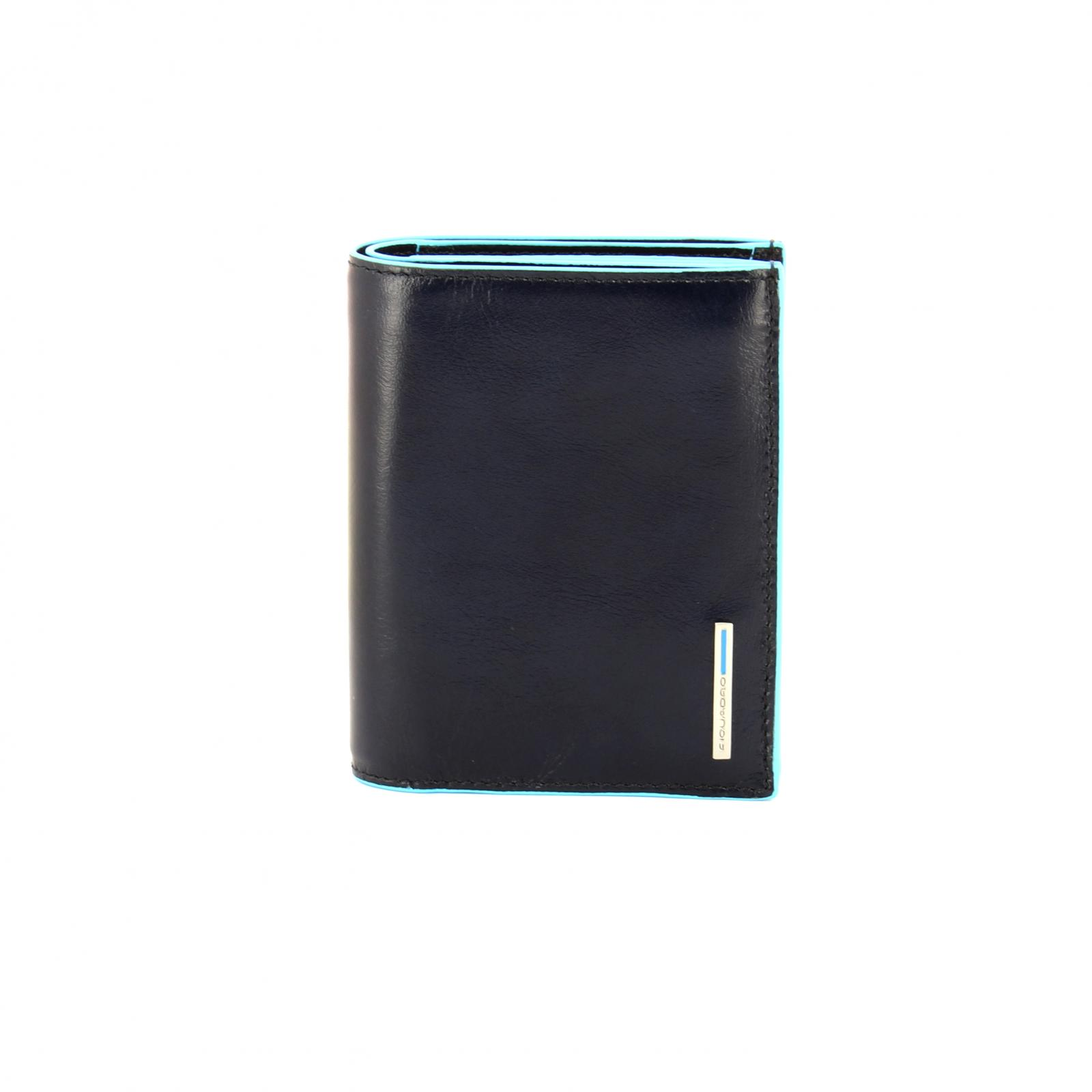 Men Wallet Blue Square