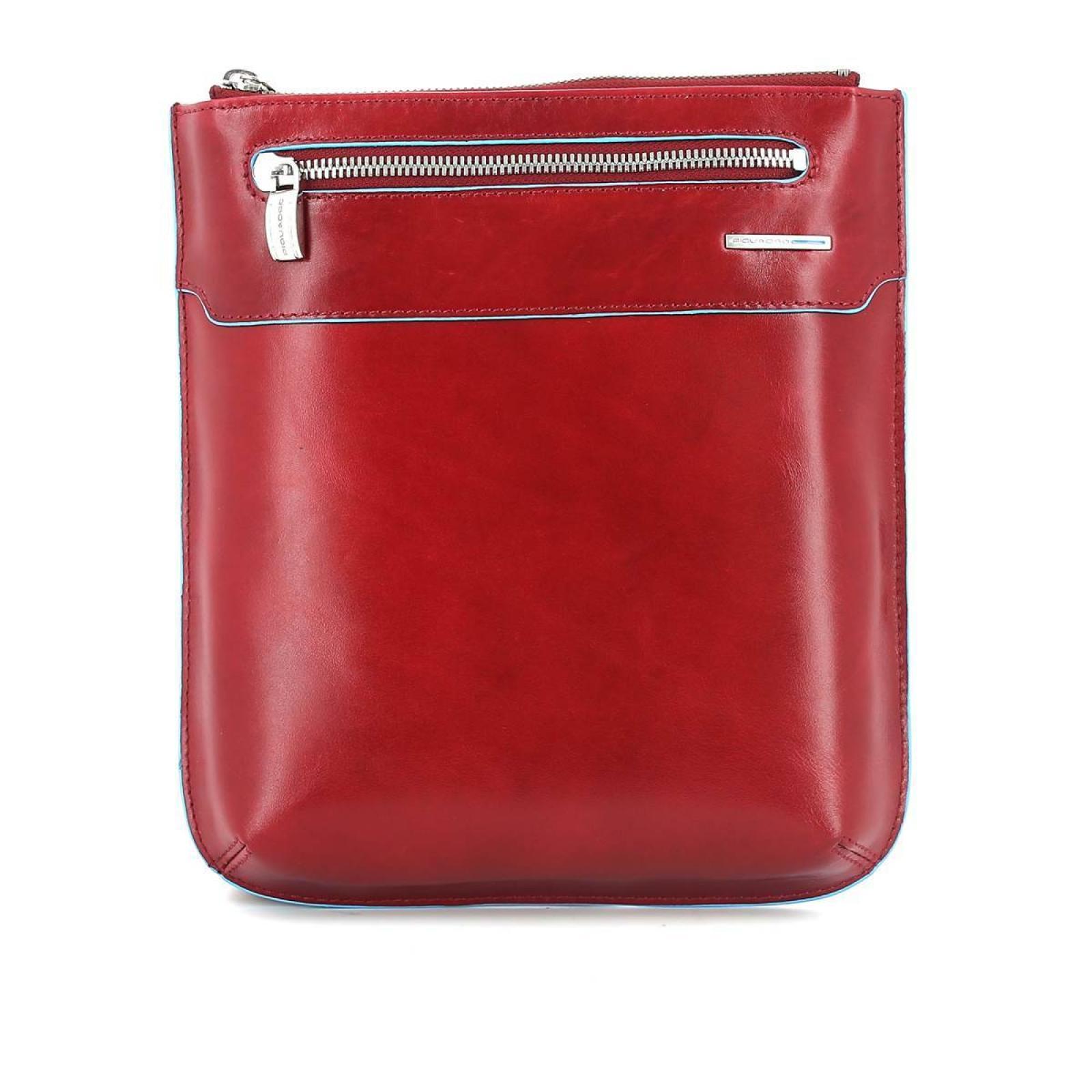 Slim Crossbody Bag Blue Square