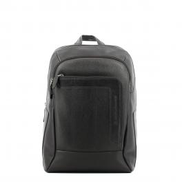 Laptop Backpack in leather 14.0-MARRONE-UN