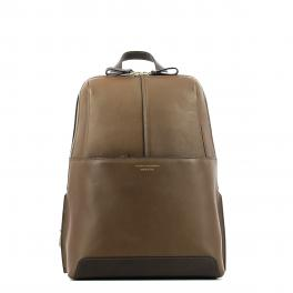 Organised Leather Backpack Archimede-MARRONE-UN