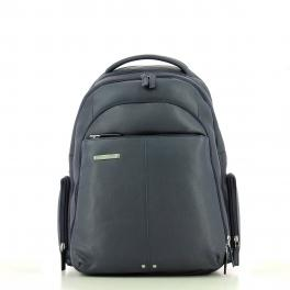 Leather Laptop Backpack 15.0-BLU-UN