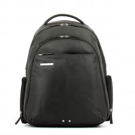 Leather Laptop Backpack Piquadro 15.0-TESTA/MORO-UN